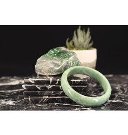 """Myanmar Jadeite Bangle Bracelet - 8"""""""
