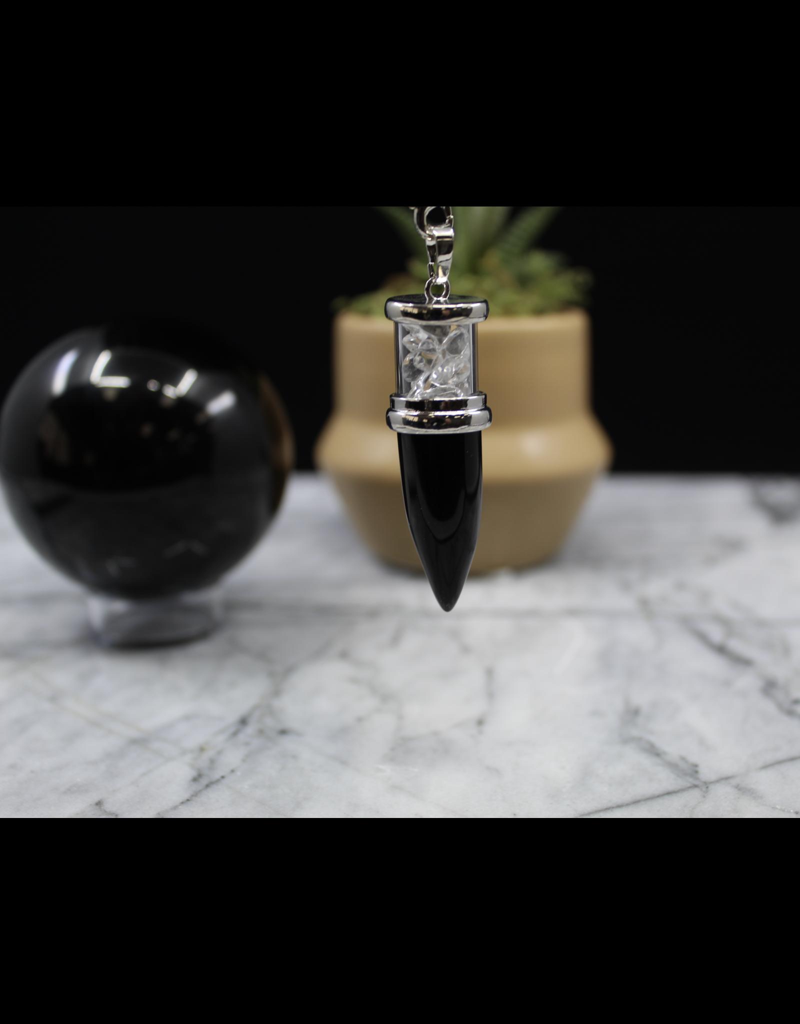 Chambered Pendulum-Black Obsidian