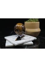 Gold Tiger Eye Diamond Pendulum