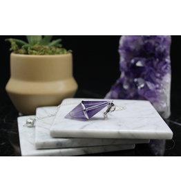 Amethyst Diamond Pendulum