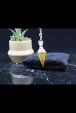 Gold Resin/Orgone Citrine Pendulum