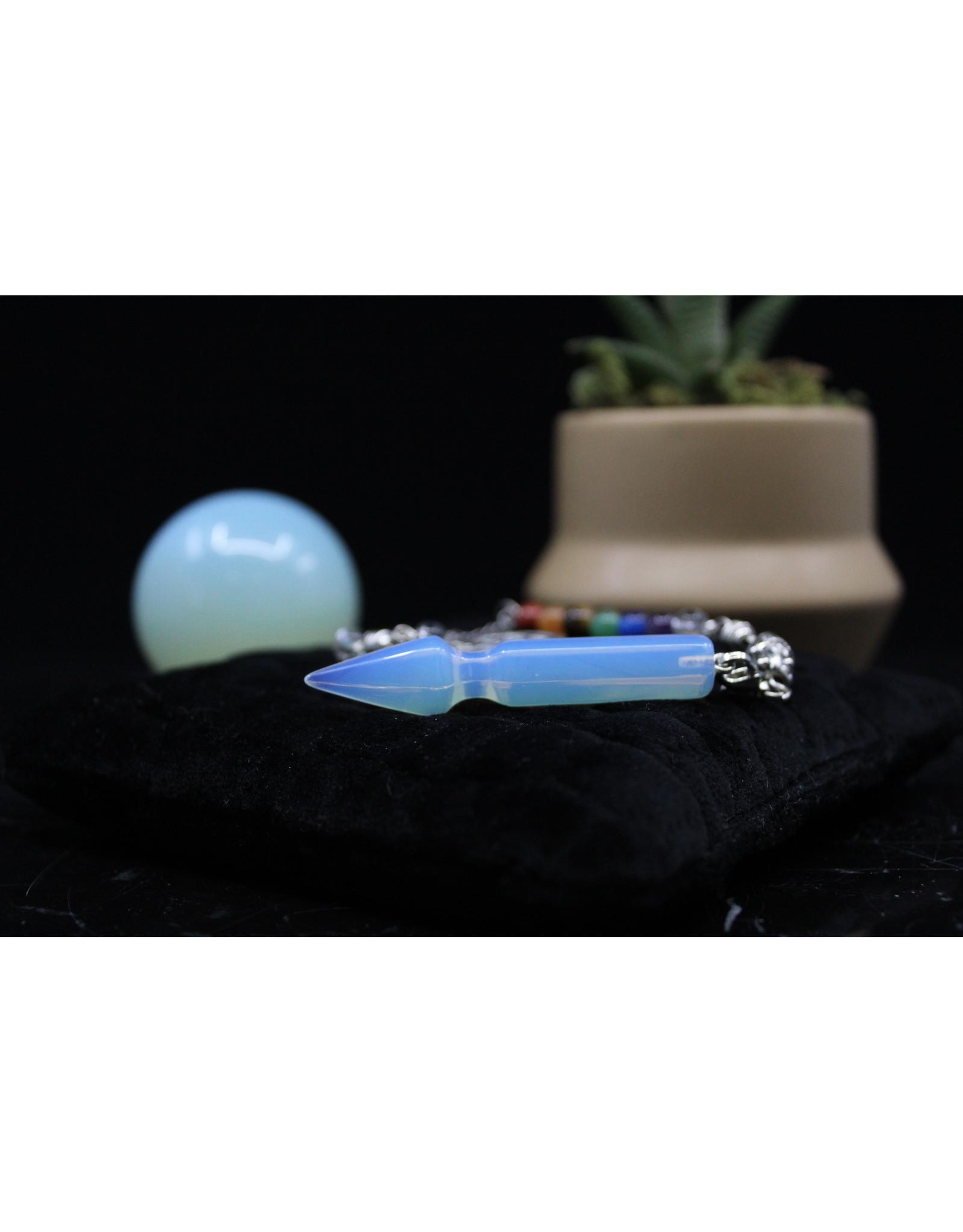 Arrow Pendulum w/ Chakra Beads-Opalite