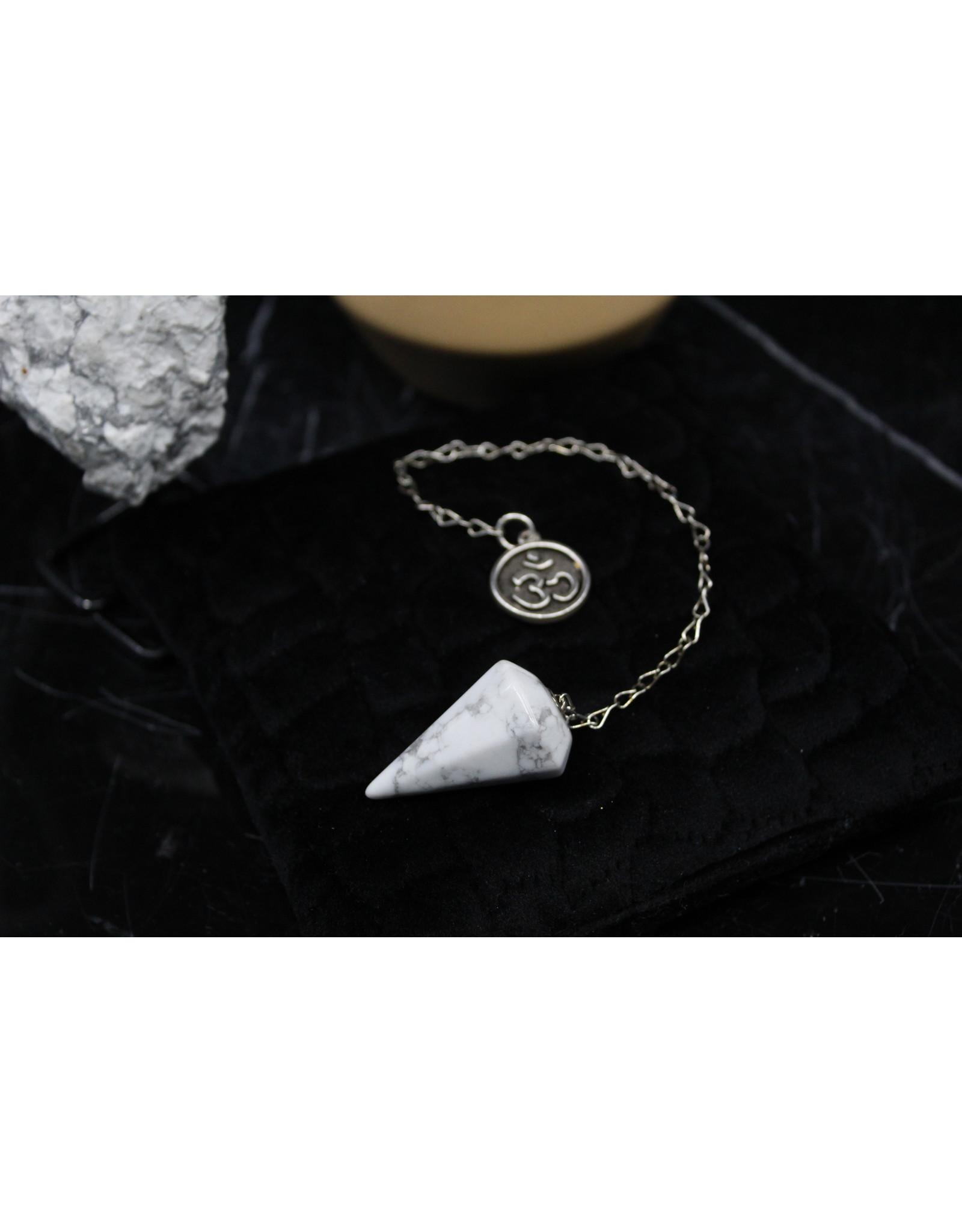 Howlite Om Pendulum