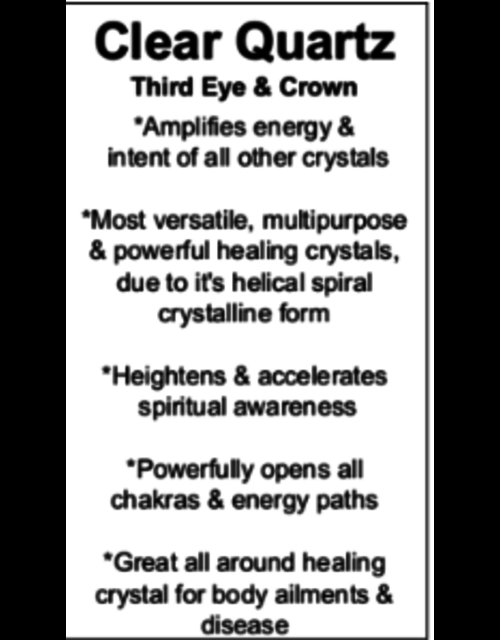 Clear Quartz  Faceted Pendulum