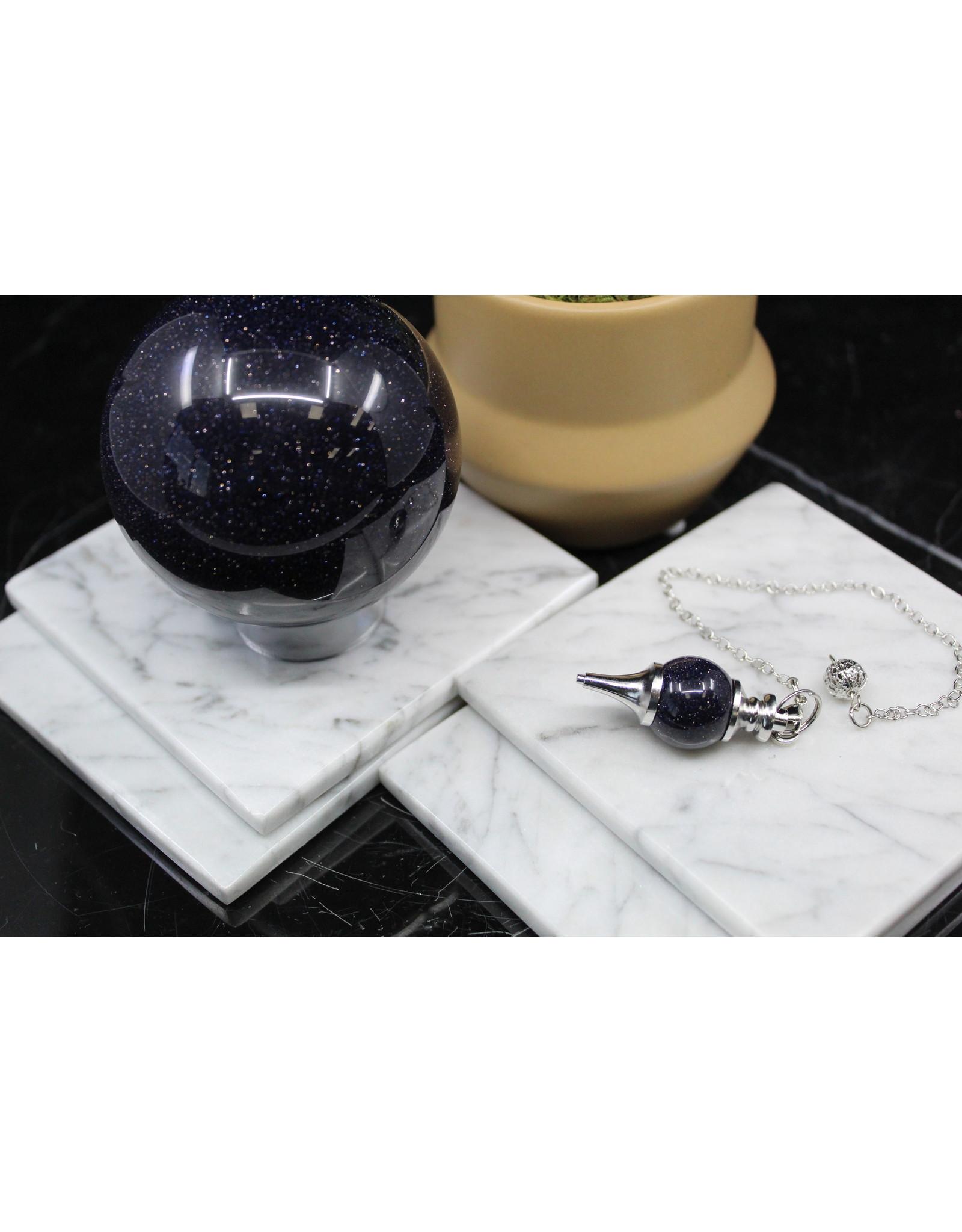 Blue Sandstone Round Pendulum