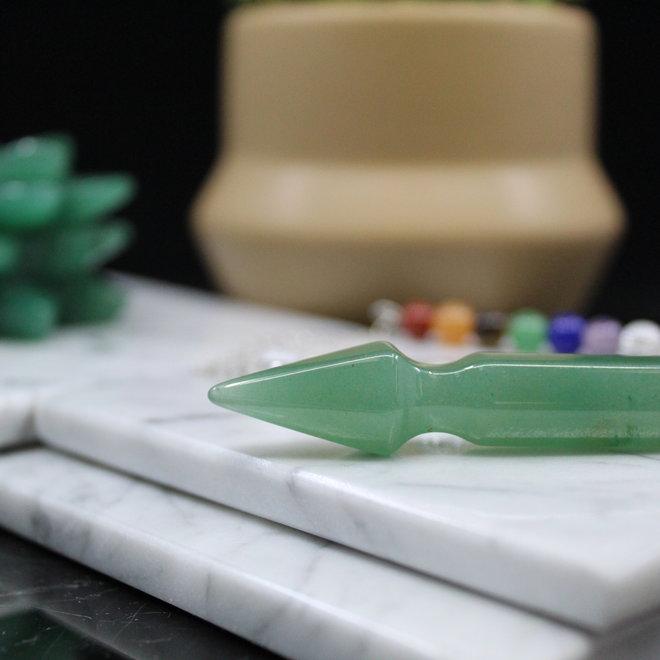 Arrow  w/ Chakra Beads-Green Aventurine Pendulum