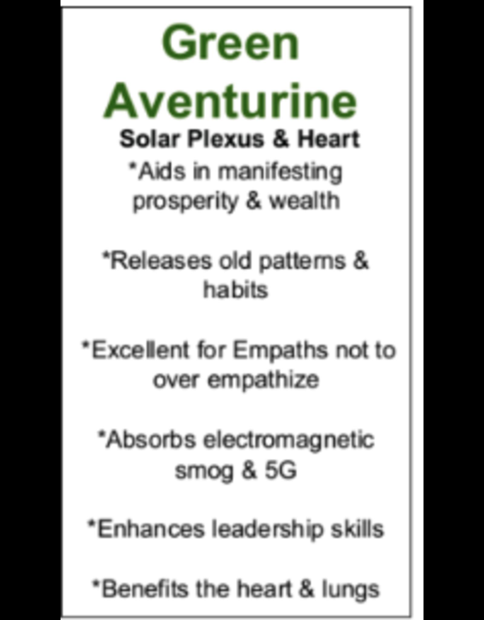 Pendulum -Arrow  w/ Chakra Beads-Green Aventurine