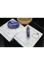 Chakra Pendulum w/ Clear Quartz Point-Lapis Lazuli