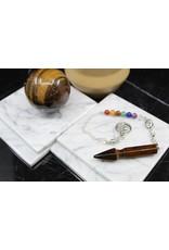 Pendulum -Arrow  w/ Chakra Beads-Gold Tiger Eye