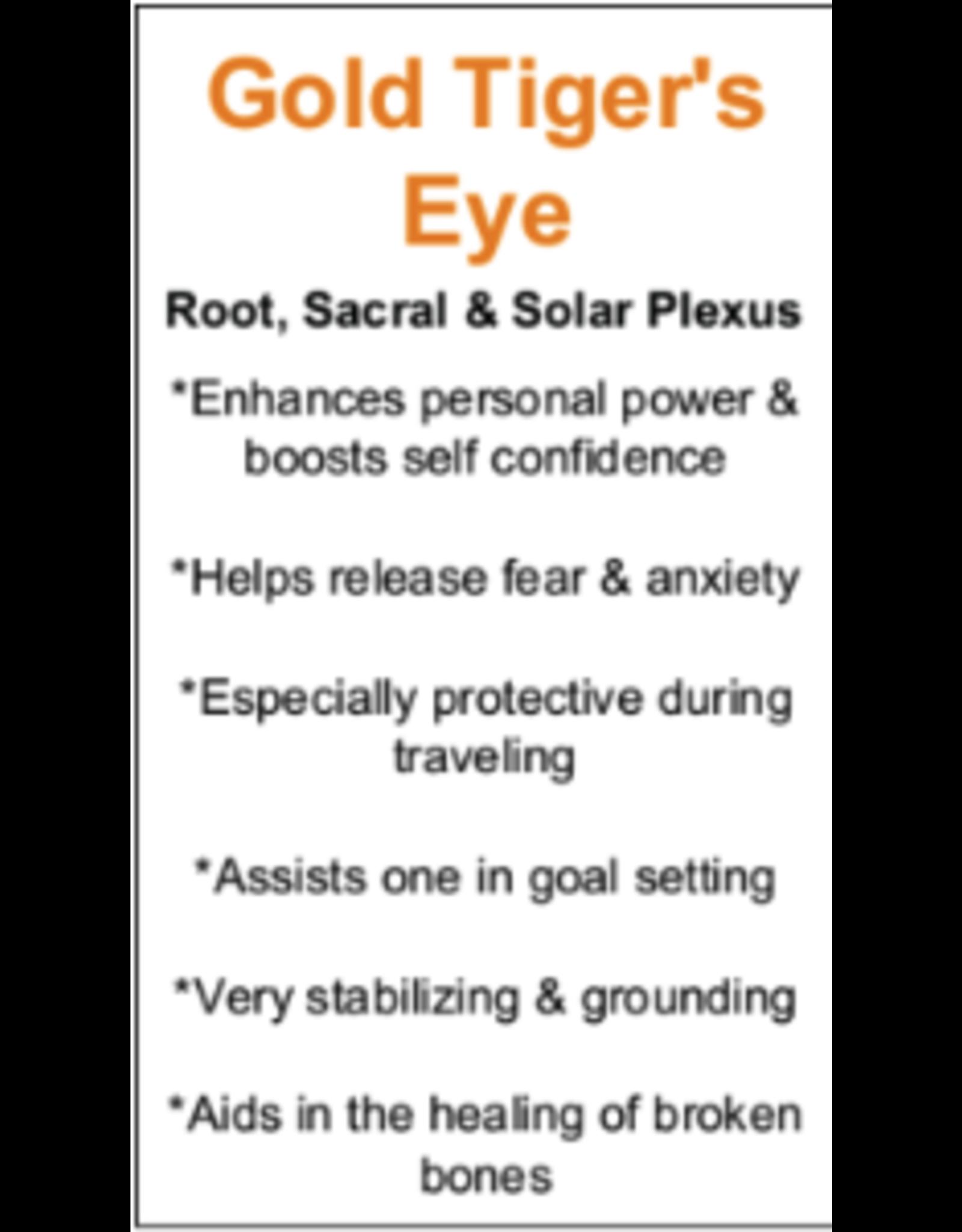 Arrow Pendulum w/ Chakra Beads-Gold Tigers Eye