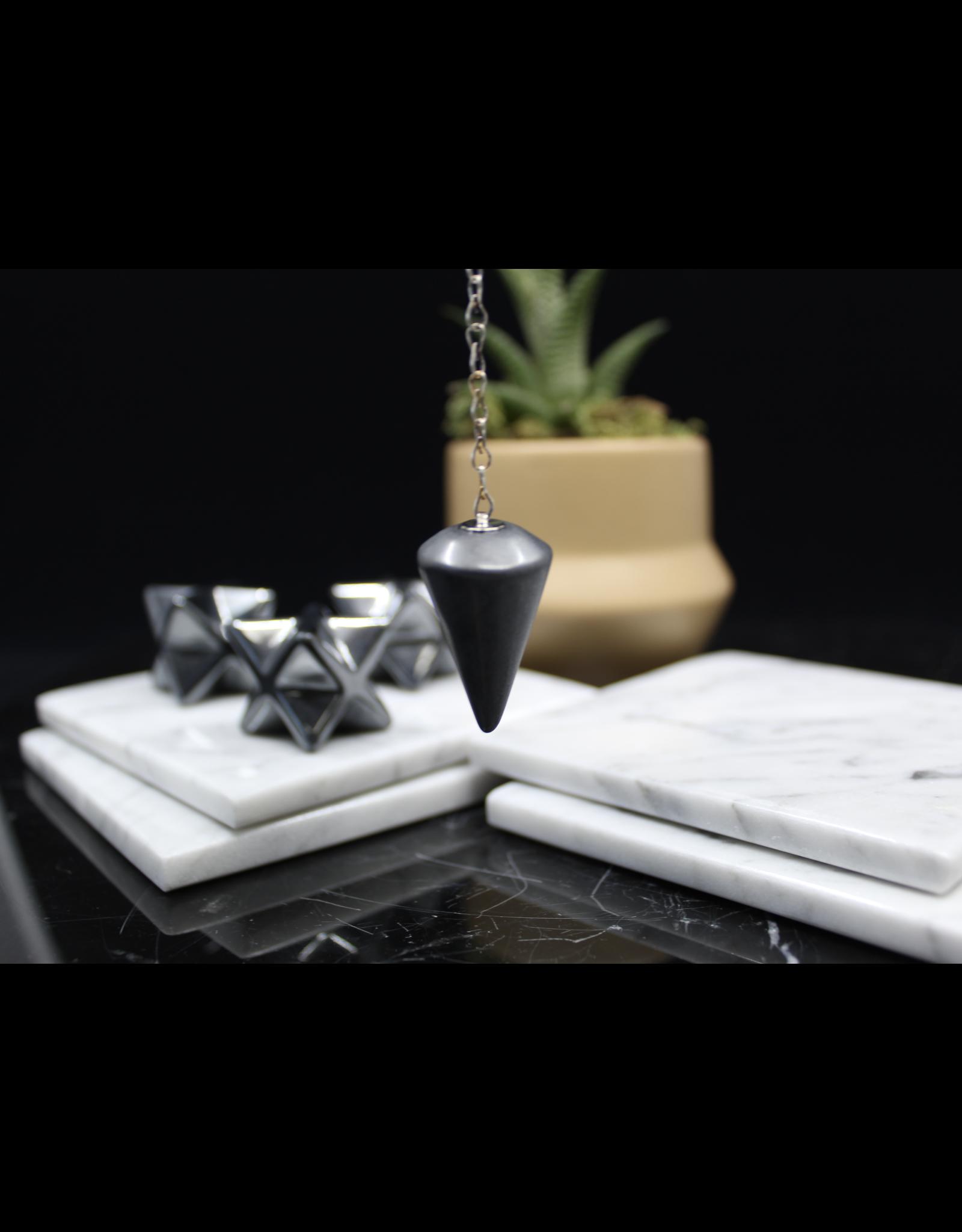 Hematite Pendulum Om