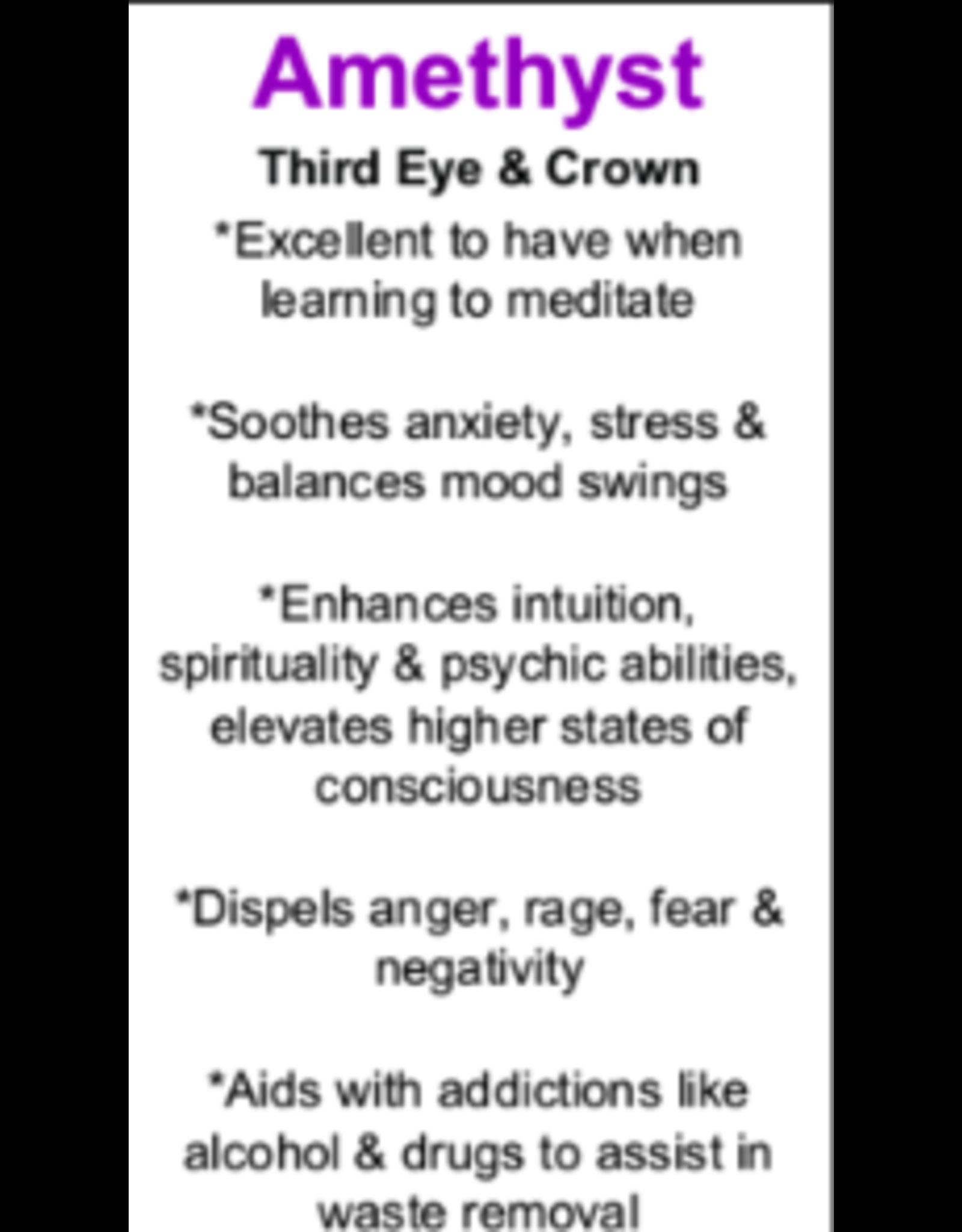 Chakra Pendulum w/ Clear Quartz Point-Amethyst