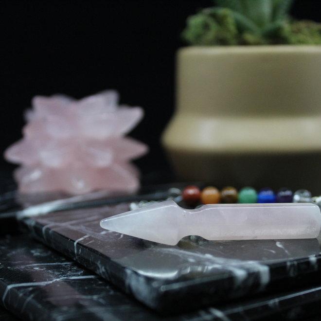 Arrow w/ Chakra Beads-Rose Quartz Pendulum