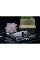 Chambered Pendulum-Rose Quartz