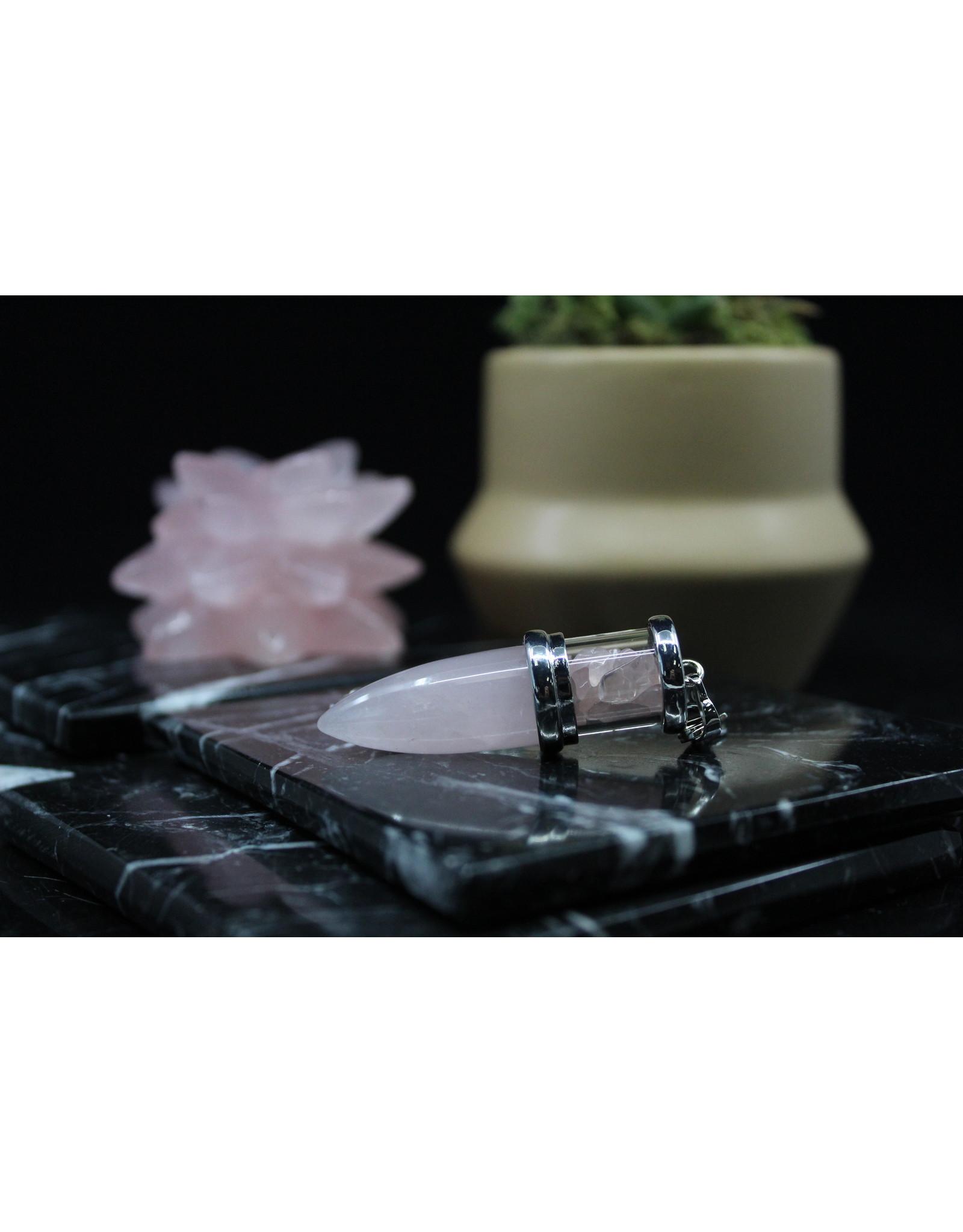 Rose Quartz Chambered Cone Pendulum