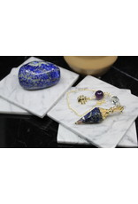 Gold Resin/Orgone Lapis Lazuli Pendulum