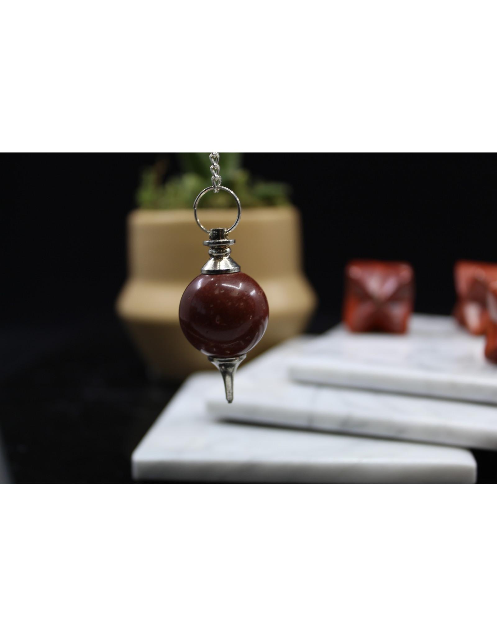 Red Jasper Round Pendulum