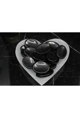 Black Tourmaline Worry Stone -Medium Oval