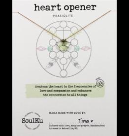 Prasiolite/Green Amethyst Sacred Geometry Necklace for Heart Opener - Soulku