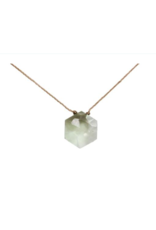 Prasiolite Sacred Geometry Necklace for Heart Opener - Soulku