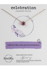 Lavender Crystal Necklace for Celebration - Soulku