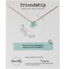 Turquoise Blue Crystal Soul Shine Necklace For Friendship - Soulku