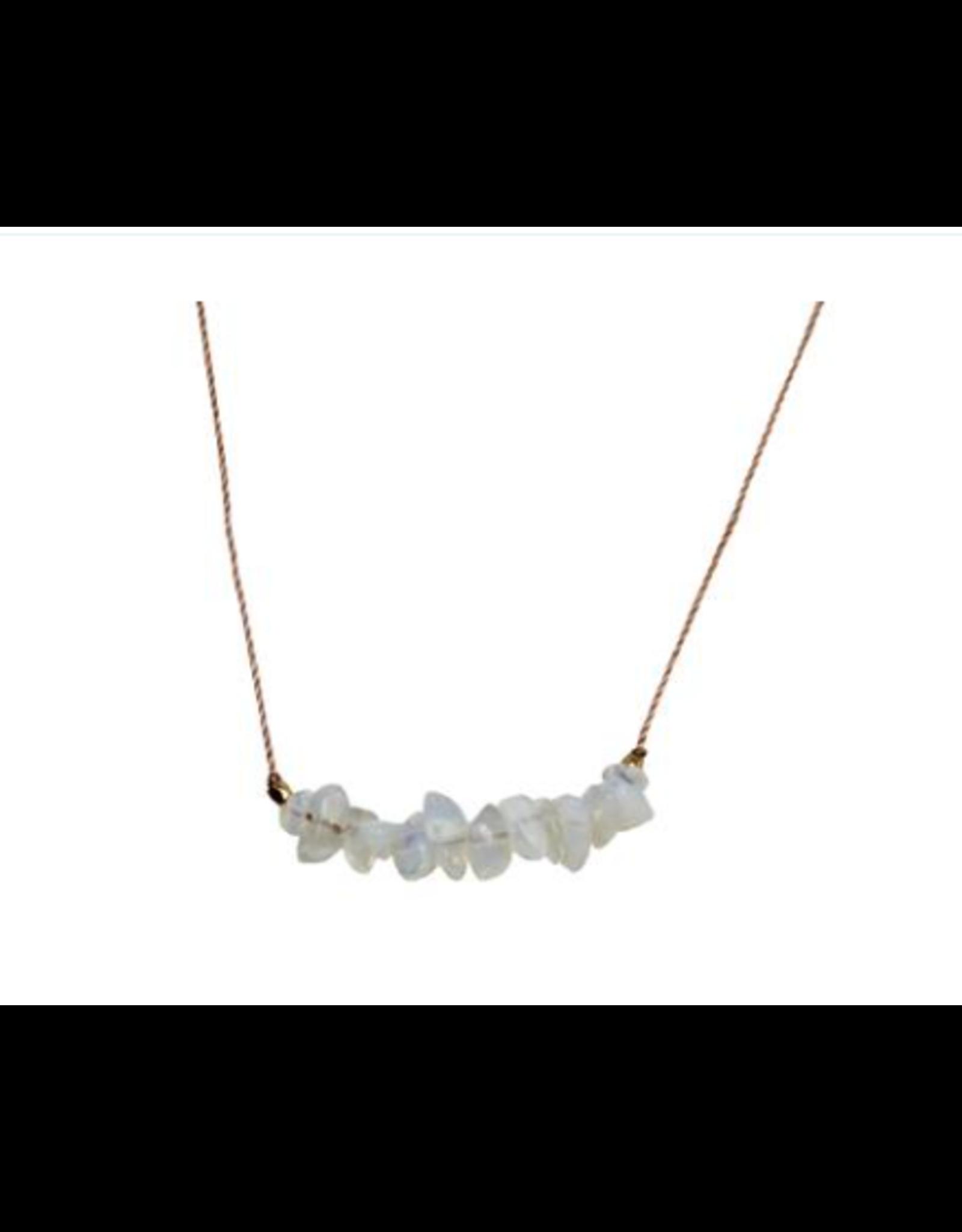 Seed Necklace - Opaline Crystal - Motherhood