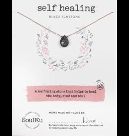 Black Sunstone Necklace For Self Healing - SoulKu