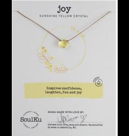 Sunshine Yellow Crystal Soul Shine Necklace For Joy - SoulKu