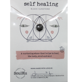 Black Sunstone Geometry Necklace For Self Healing - SoulKu