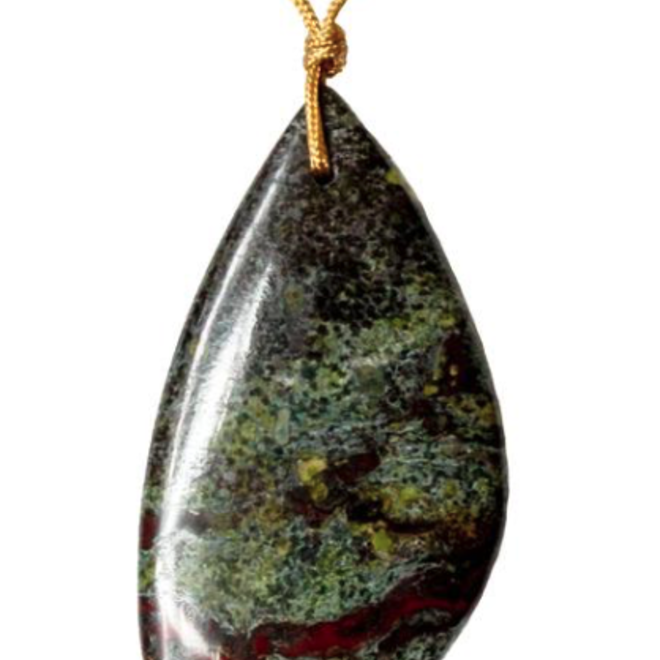 Dragon's Blood Touchstone Necklace For Inner Strength - SoulKu