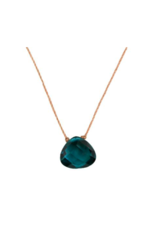 Peacock Blue Crystal Soul Shine Necklace For Dream - SoulKu