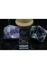 Rainbow Fluorite Spinning Cube-Large