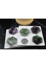 Faceted Rainbow Fluorite Gems