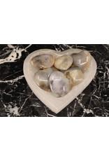 Dendritic Agate Puffy Heart