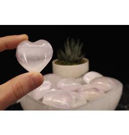 Selenite/Satin Spar Heart-Small (30mm)