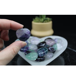 Rainbow Fluorite Heart-Small