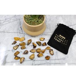 Gold Tigers Eye Runes - Mini (w/info)