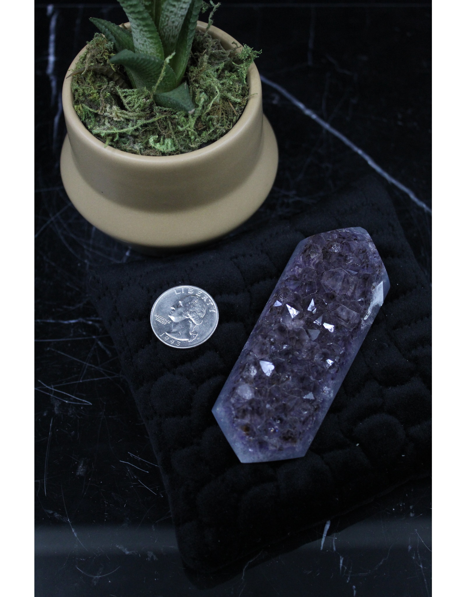 Amethyst Druzy Double Point