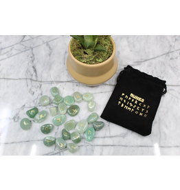 Green Aventurine Runes - Mini (w/info)