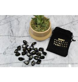 Black Obsidian Runes - Mini (w/info)