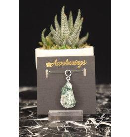 Tumbled Moss Agate Pendant