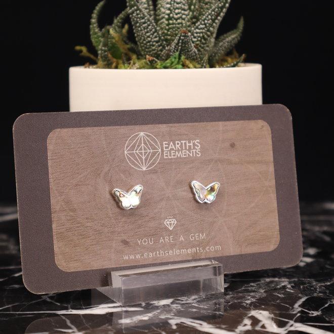 Abalone Shell Earrings - Butterfly Stud