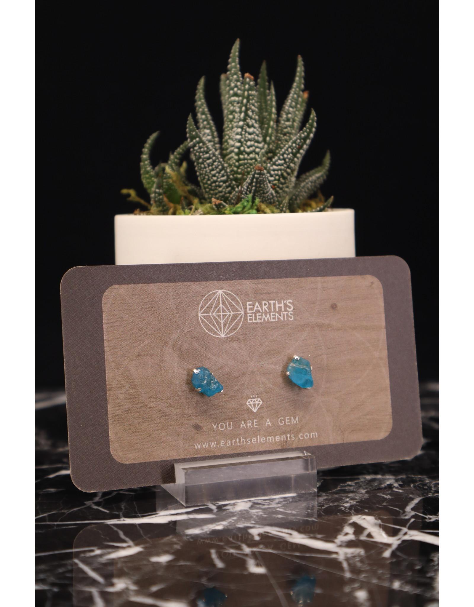 Blue Apatite Earrings - Stud
