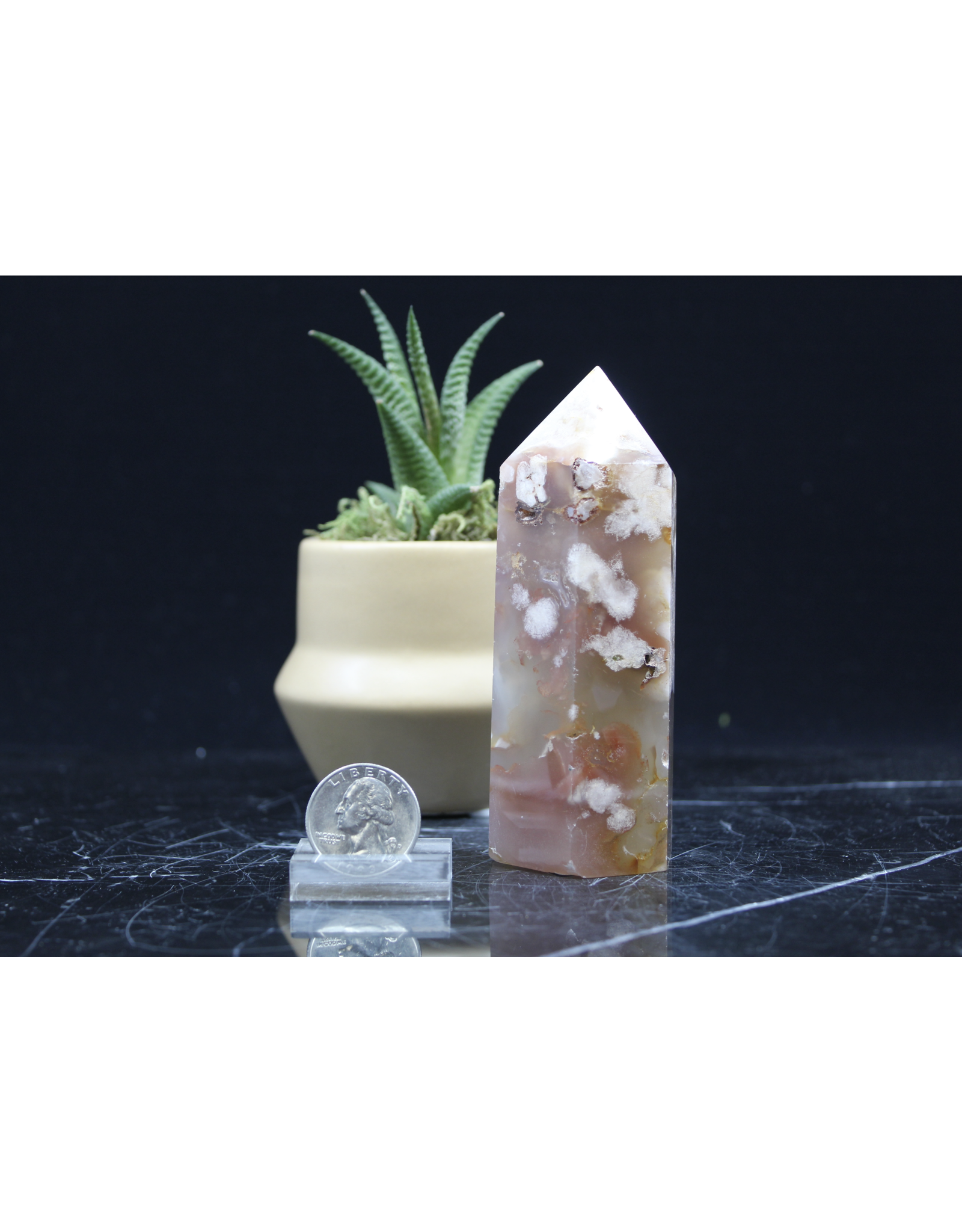 """Flower Agate Tower/Point 4"""""""