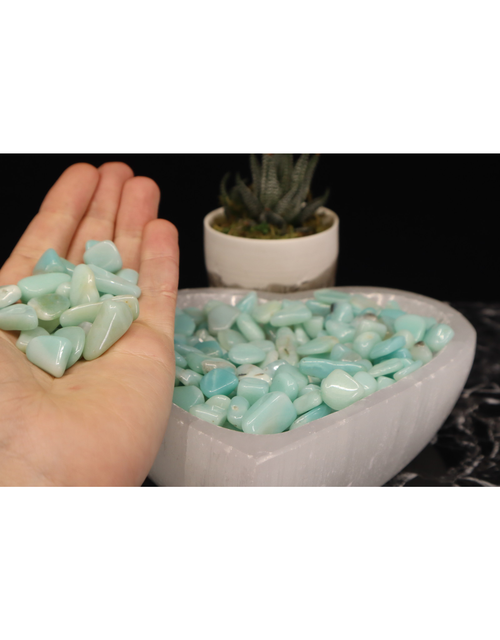 Caribbean Calcite Chips Tumbled