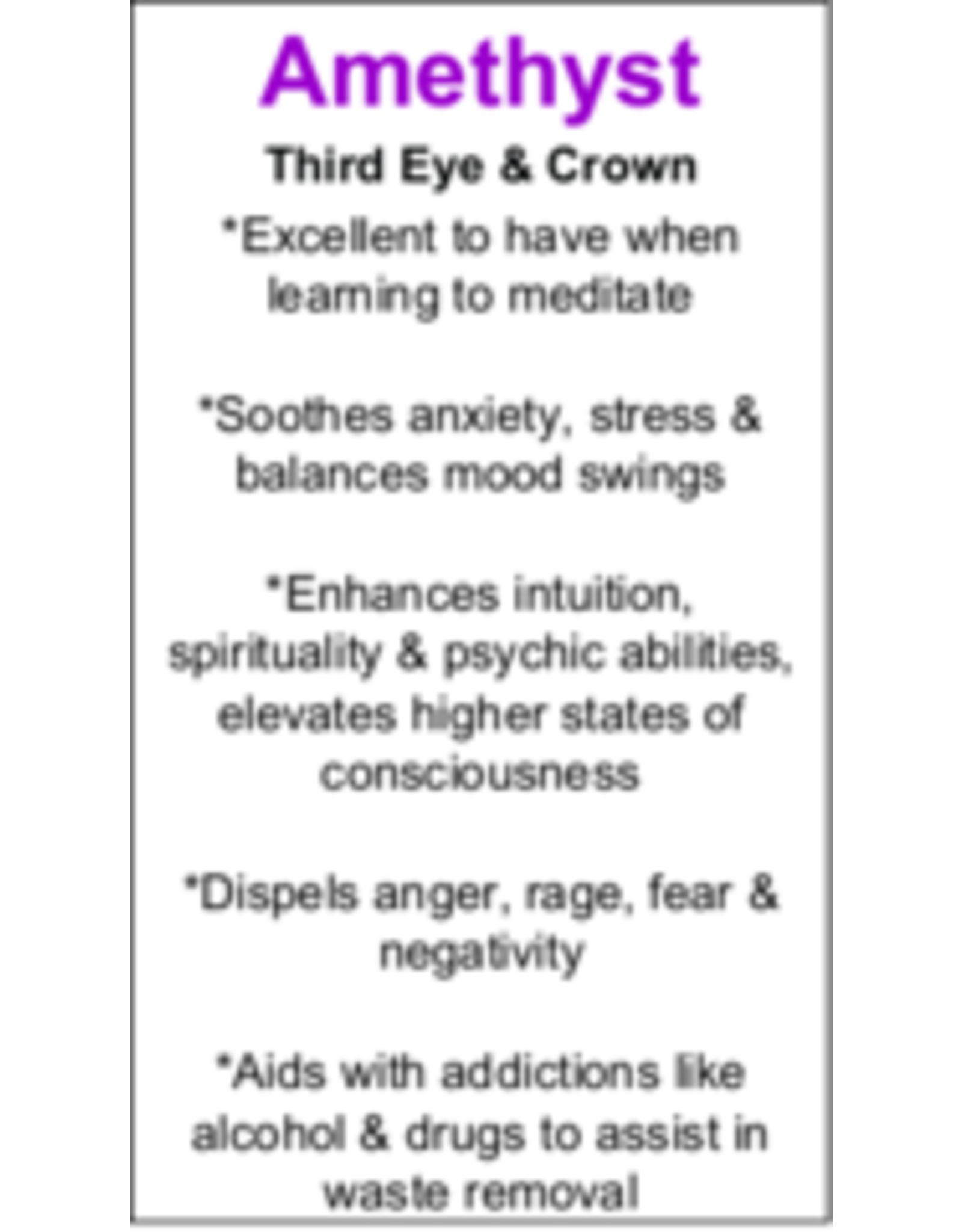 Amethyst Pendant #17 - Tear Drop