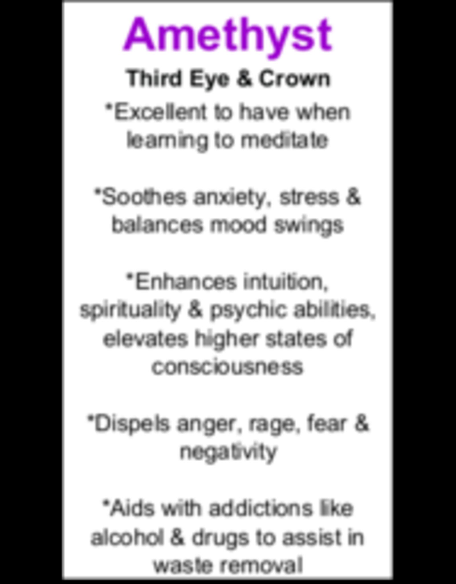 Amethyst Pendant #22 - Tear Drop