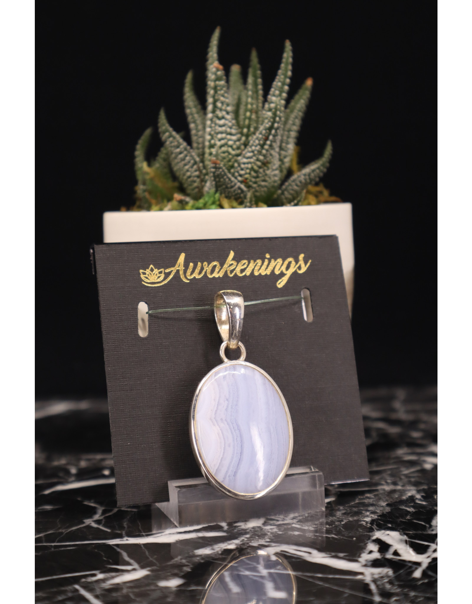 Blue Lace Agate #2 - Oval