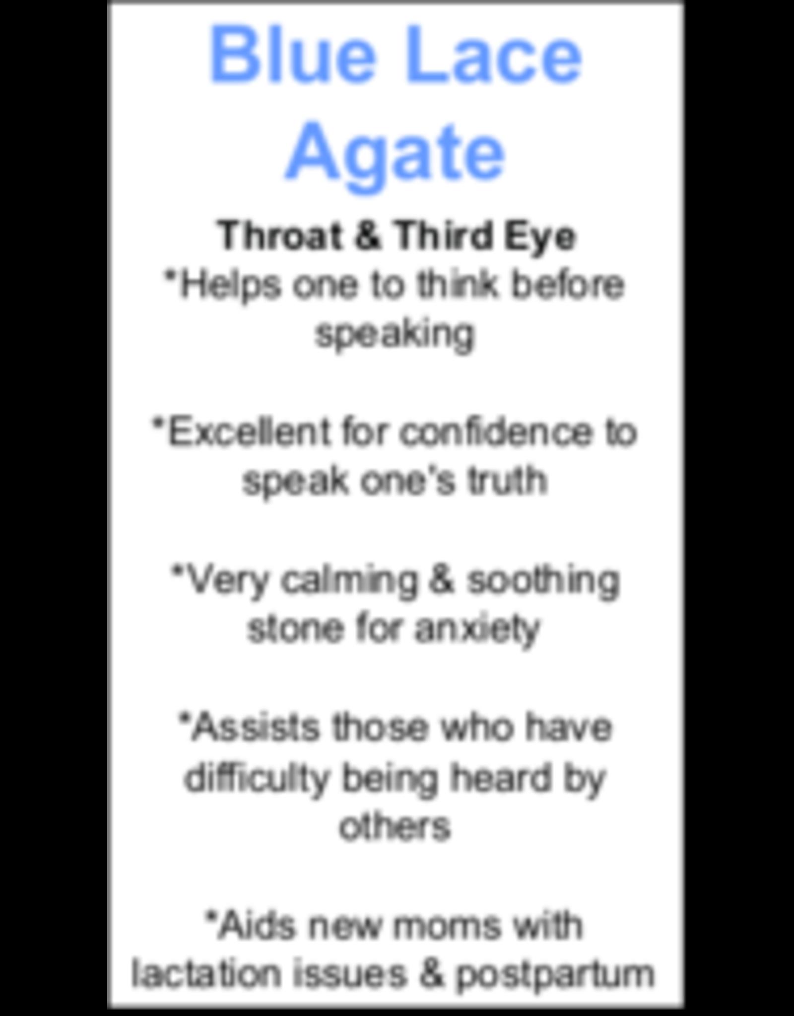 Blue Lace Agate Pendant #5 -Tear Drop